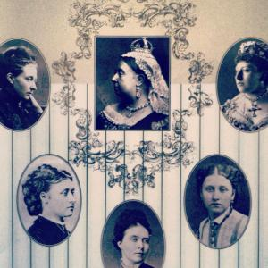 Victoria and her lady brood.