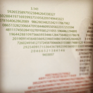 "A snippet of the ""Apple Pi"" print."
